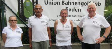 v.l.n.r.: Beste Dame Ensinger Berta (5.), Johann Gnadenberger (2.), Peter Draxler (1.) und Bernhard Bücker 3.